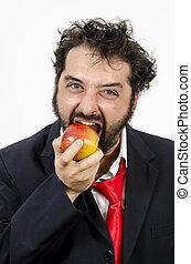 Healthy Choice - Apple - Healthy Choice - Businessman Biting...