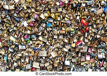 Love padlocks on Pont des Arts in Paris. Now campaign calls...