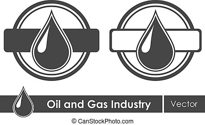 Oil symbols. Corporate emblem. Vector illustration.