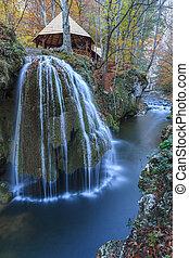 Bigar Cascade Falls in Nera Beusnita Gorges National Park, Romania