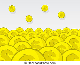 Coins Pile - Large pile of golden coins