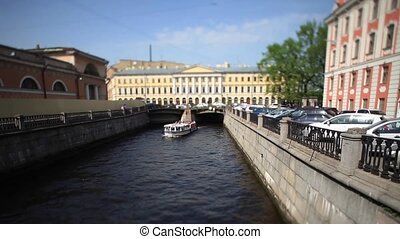 travel on canals of St. Petersburg - View of the Triple...