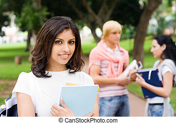elegant indian student