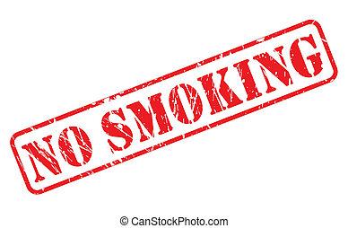NO SMOKING red stamp text
