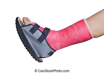 Foot splint treatment of injuries from ankle sprain,...