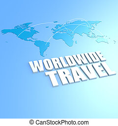 Worldwide travel world map