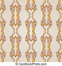 Patterned lines - Parallel symmetrical beige patterns....