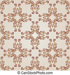 Symmetrical patterns - Light brown symmetrical patterns on...