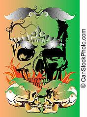 skull-art rock