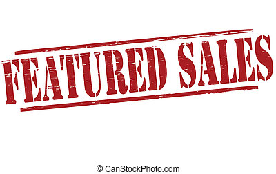 Featured sales - Stamp with text featured sales inside,...