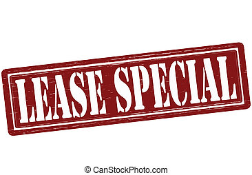 Lease special - Stamp with text lease special inside, vector...