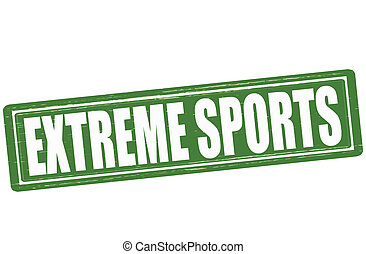 Extreme sports - Stamp with text extreme sports inside,...