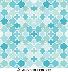 Abstract Turquoise Pattern. Seamless vector background with...
