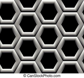Seamless pattern with hexagonal cells - Seamless pattern...