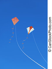 Kites in the Sky - Kites in the blue sky Concept picture