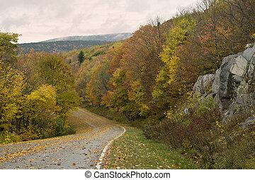 Autumn Fall road - beautiful colorful Autumn Fall road in...