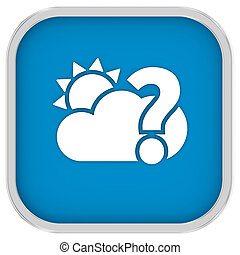 Likely partly cloudy sign on a white background. Part of a...