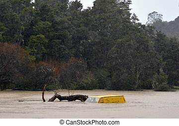 Natural disaster - Flood - KAWAKAWA , NZL -JUNE10...