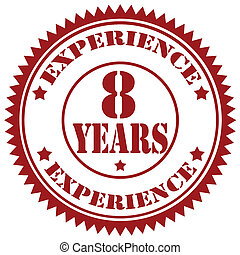 Experience-stamp - Rubber stamp with text 8 Years...