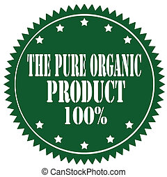 The Pure Organic Product-label