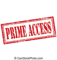 Prime Access-stamp - Grunge rubber stamp with text Prime...