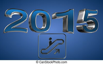Year 2015 - Illustration of year 2015, happy new year, the...