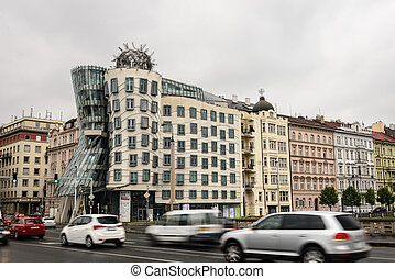 Prague - Nationale - Nederlanden Building also known as The...