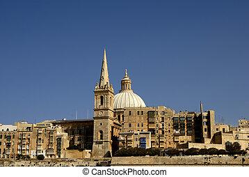 Valleta - old town of Valleta in the island of Malta