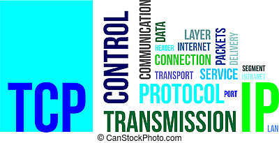word cloud - tcp - A word cloud of transmission control...