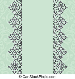 Vector seamless damask frame