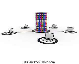 database internet concept