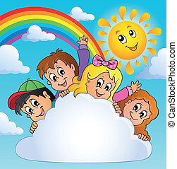 Children theme image 3 - eps10 vector illustration.