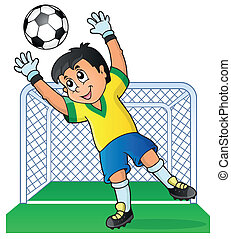 Soccer theme image 3 - eps10 vector illustration