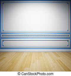 Decorative wall - Interior room with decorative wall