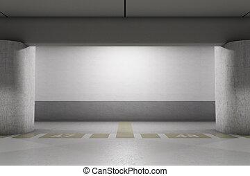 Empty parking - Empty underground parking area