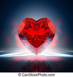 Diamond heart - Red diamond heart