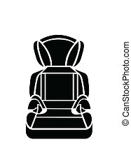 Baby car seat vector illustration