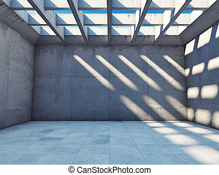 Large empty room  - Large empty room with concrete walls