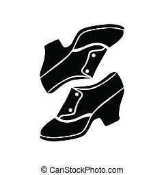 Retro shoes vector illustration