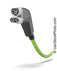 EV charger isolated on a white background 3d render
