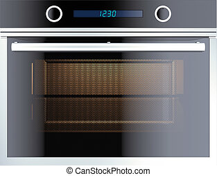 Electric oven isolated on white 3d render