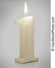 candle showing Nr. 1