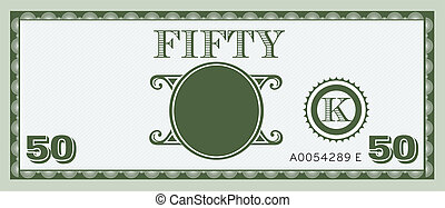 Fifty money bill image.
