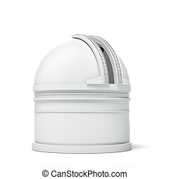 Observatory Dome  isolated on a white background. 3d render