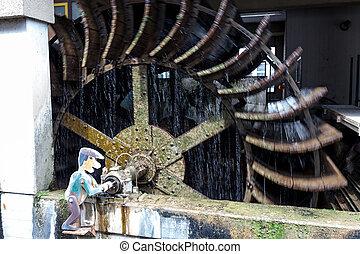 Water wheel in Esslingen germany