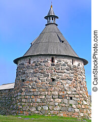 Tower of Solovetsky Monas - Solovetsky Monastery was the...