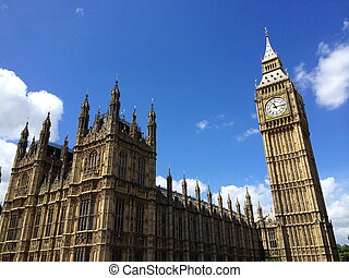 Big Ben and Houses of Parliament in London, UK.