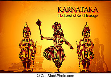 Culture of Karnataka - illustration depicting the culture of...