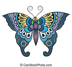 Fantasy Butterfly vector in eps10