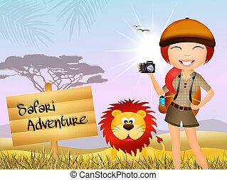safari adventure - Illustration of safari adventure